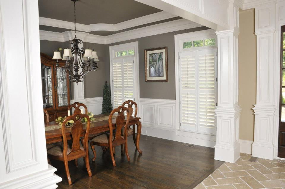 Custom Painted Wood Shutters