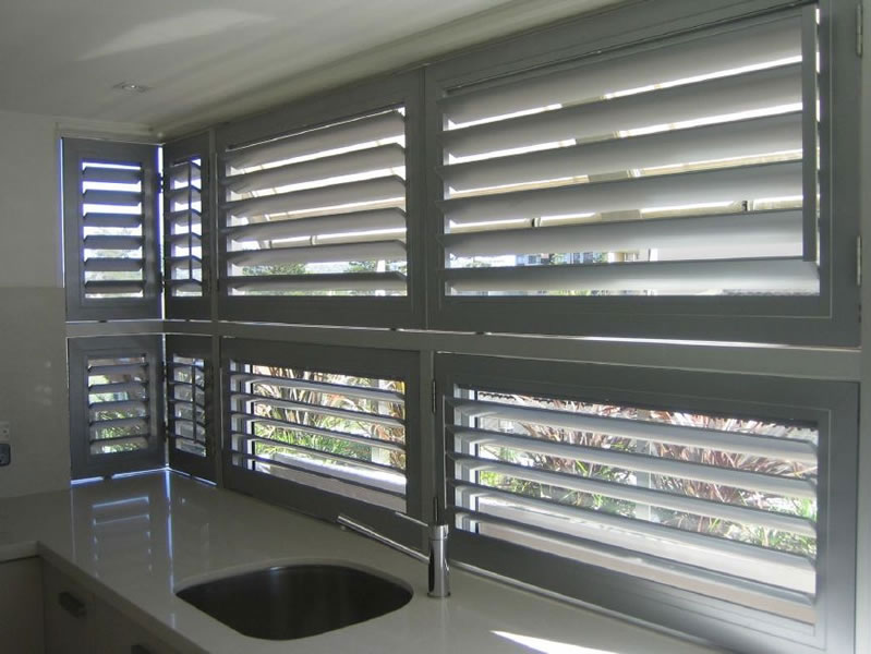 Aluminum window aluminum window shutters for Interior window security shutters